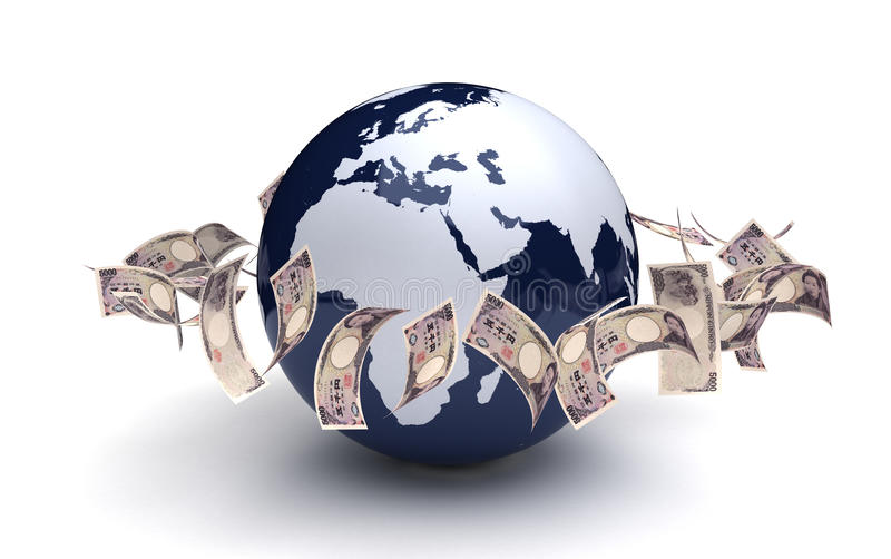 Global Business Japanese Yen royalty free stock photography