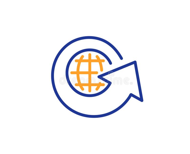 Global business line icon. Share arrow sign. Vector vector illustration