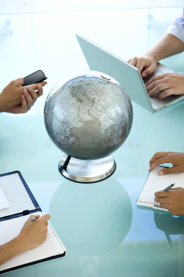 Global business meeting royalty free stock images