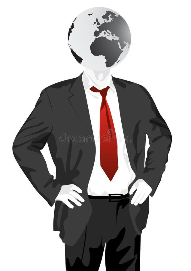 Global Business Mind royalty free illustration