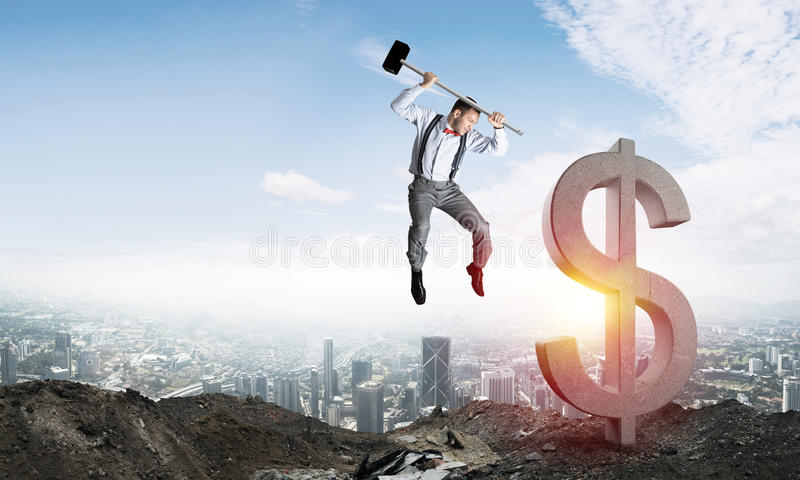 Global business and money concepts. Falling dollar currency. royalty free stock images