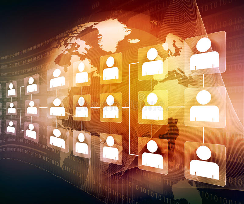 Global business network stock photos