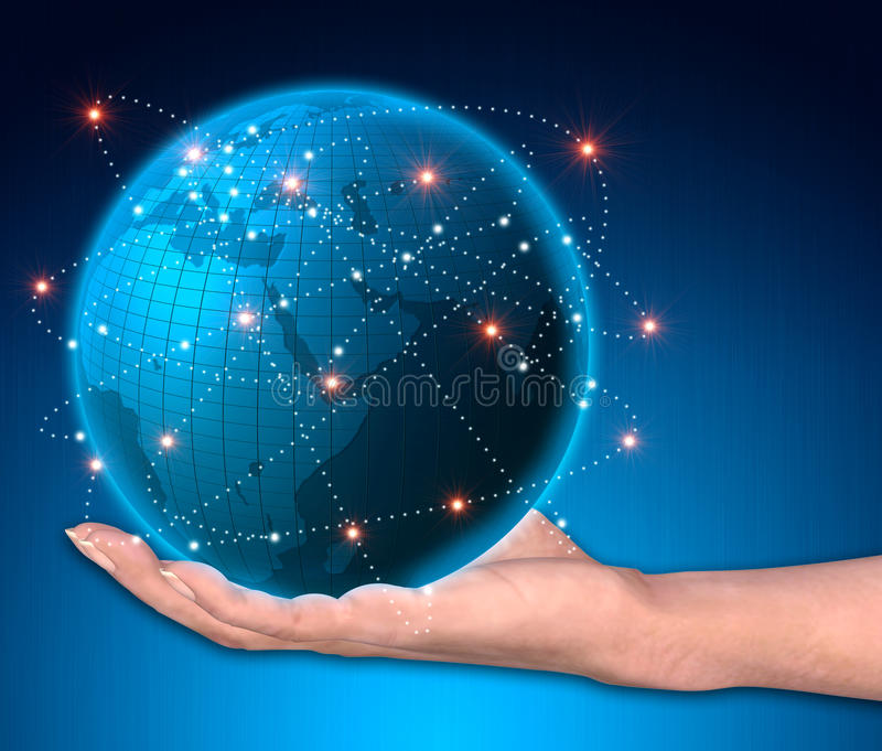 Global business. Network as concept stock illustration