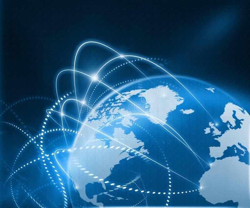 Global business network vector illustration