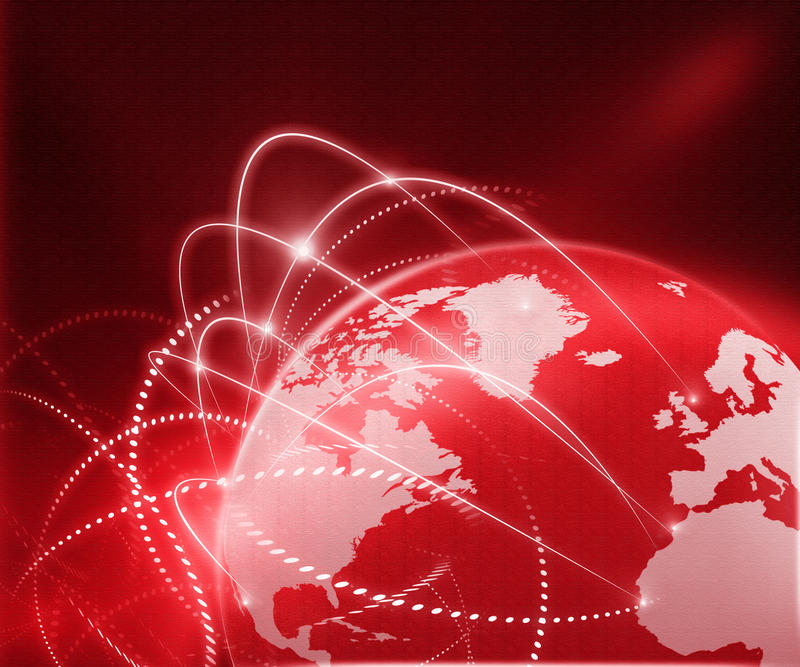 Global business network royalty free stock images