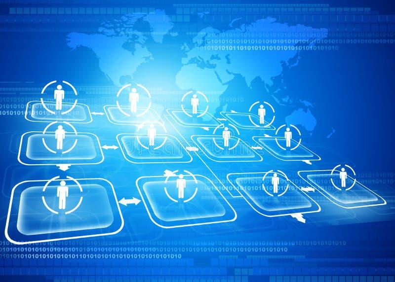 Global business network. Digital illustration of Global business network concept stock illustration