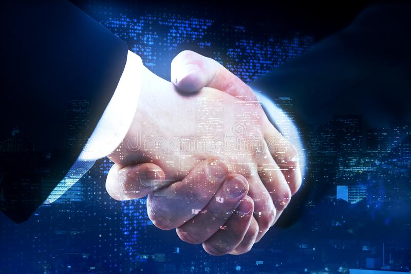 Global business and partnership concept stock images