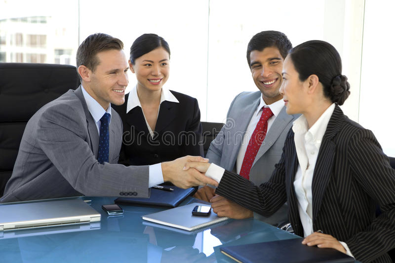 Global business partnership royalty free stock photo