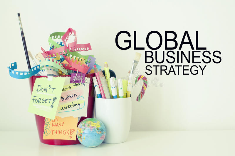 Global Business Strategy. Ideas, tips, start up concept background royalty free stock photo