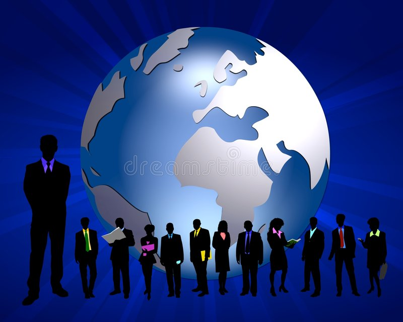 Global business team royalty free illustration