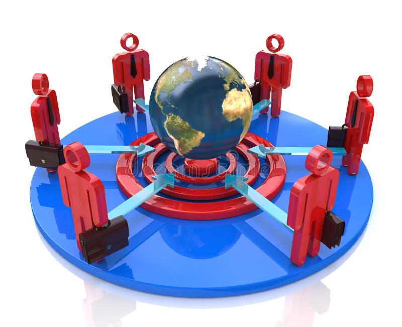 Download Global business team goal stock illustration. Image of business - 32352672