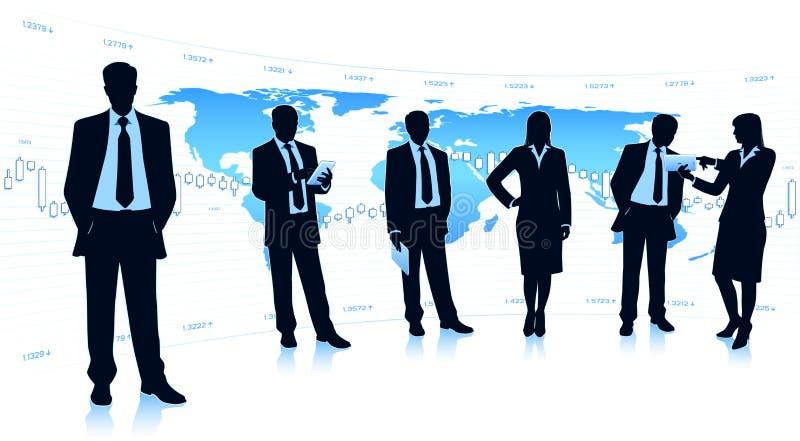 Global business teamwork stock photography