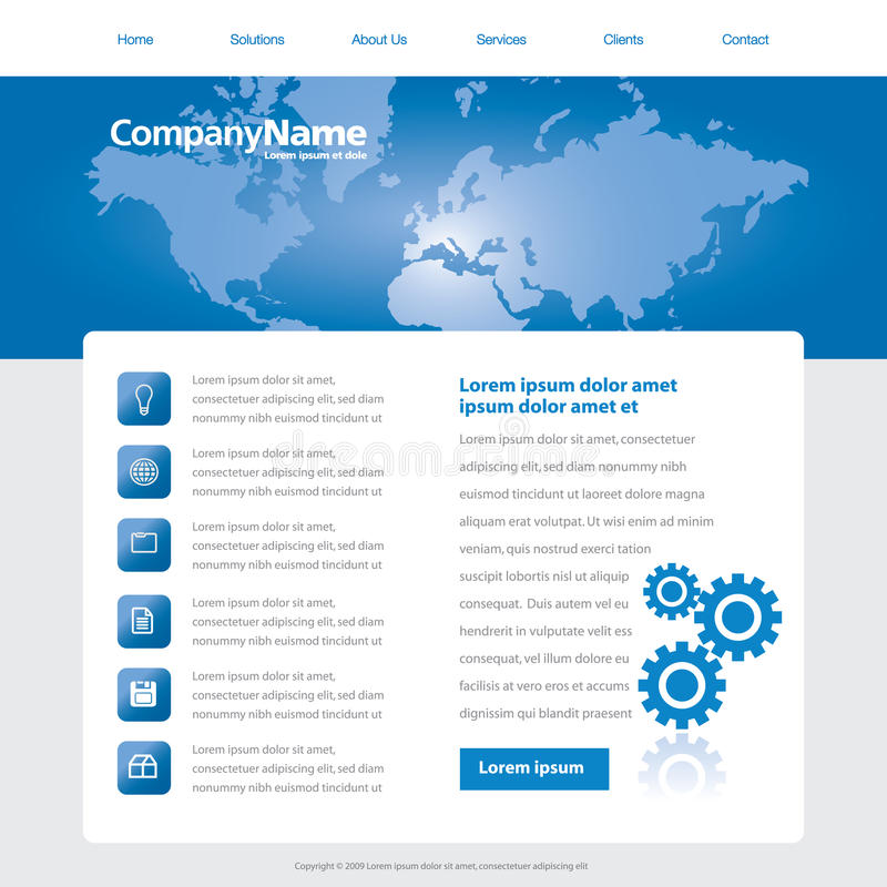 Global business template royalty free illustration