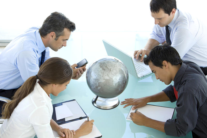 Global business is about Vision stock photo