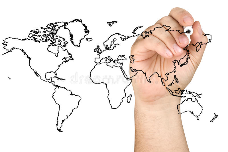 Global Business World royalty free stock photos