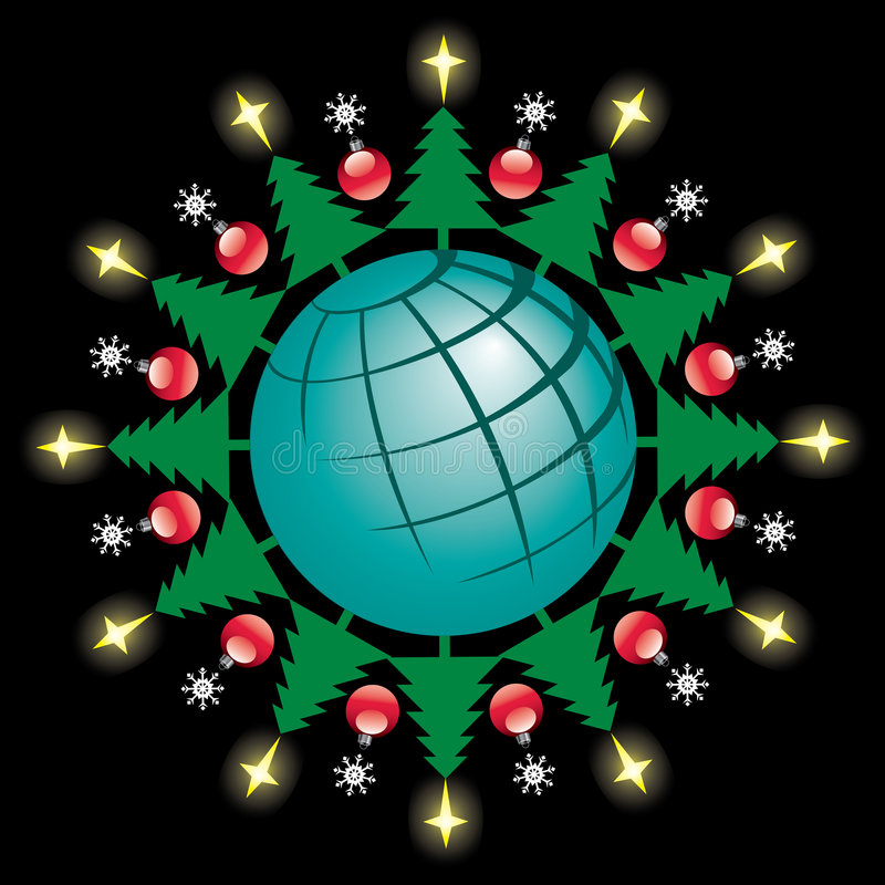 Download Global Christmas stock vector. Image of symbol, baubles - 4979478