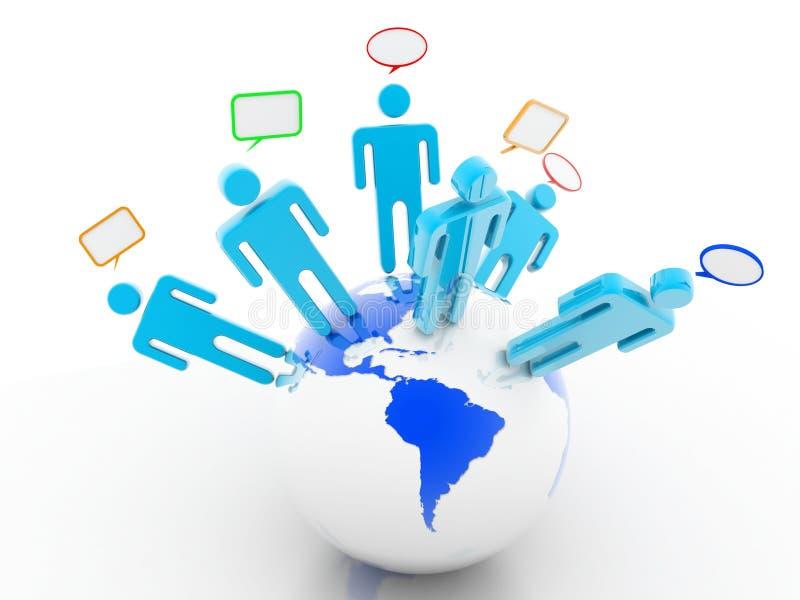 Download Global Communication stock illustration. Image of honeycomb - 27027024
