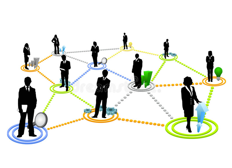 Global communication. And business people vector