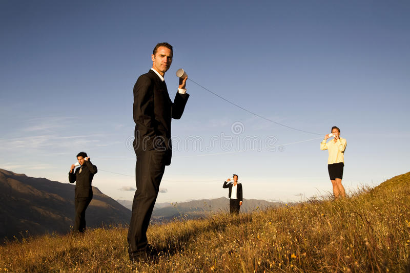 Global Communication Business Mountain Concept royalty free stock photography