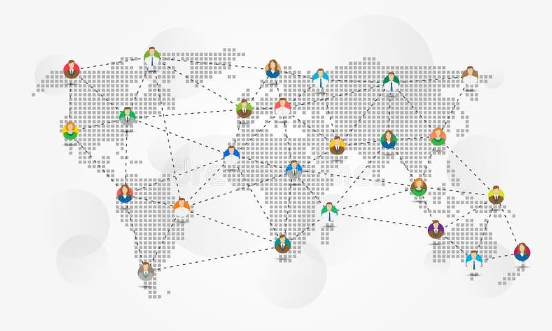 Global communication vector illustration stock illustration