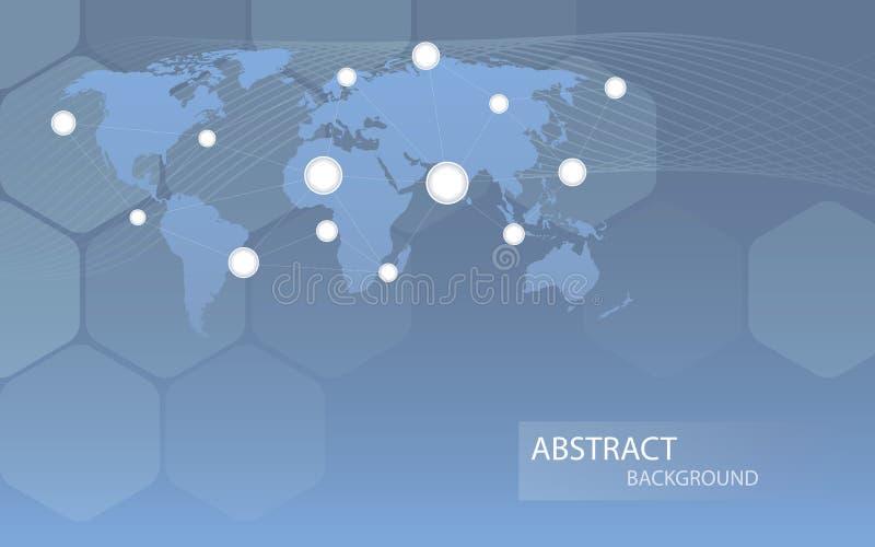 Global communicational channels background. Vector illustration royalty free illustration