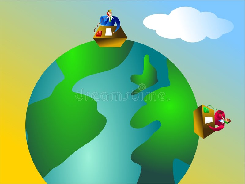 Global communications vector illustration