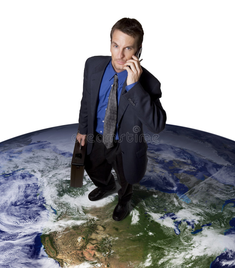 Global communications stock image