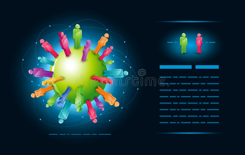 Global community stock illustration