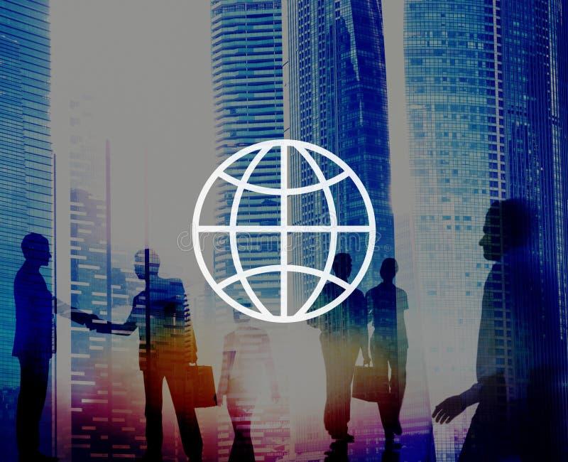 Global Community International Worldwide World Connected stock illustration