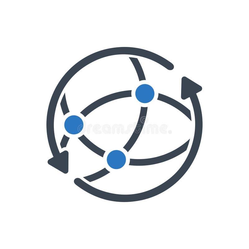 Global community network icon. Vector stock stock illustration
