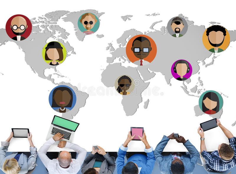 Global Community World People International Nationality Concept royalty free illustration