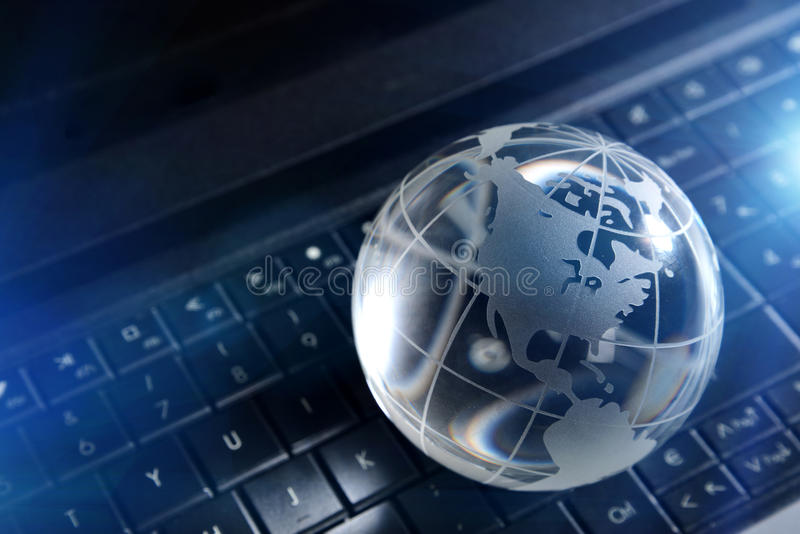 Global computer concept royalty free stock photos