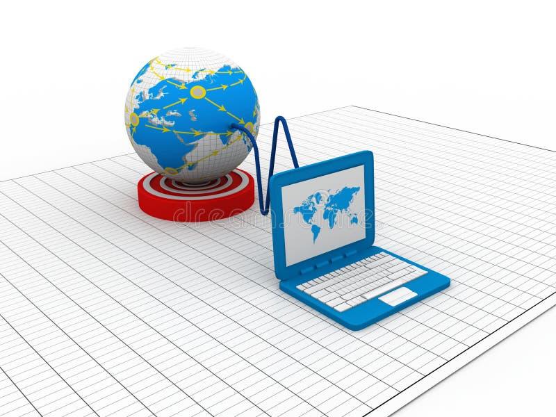 Download Global computer network stock illustration. Illustration of communication - 36348435