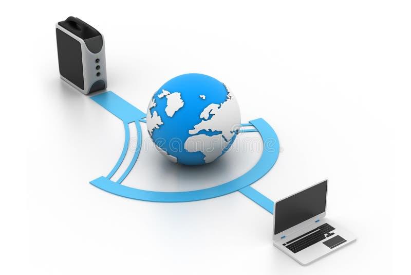 Global computer network vector illustration