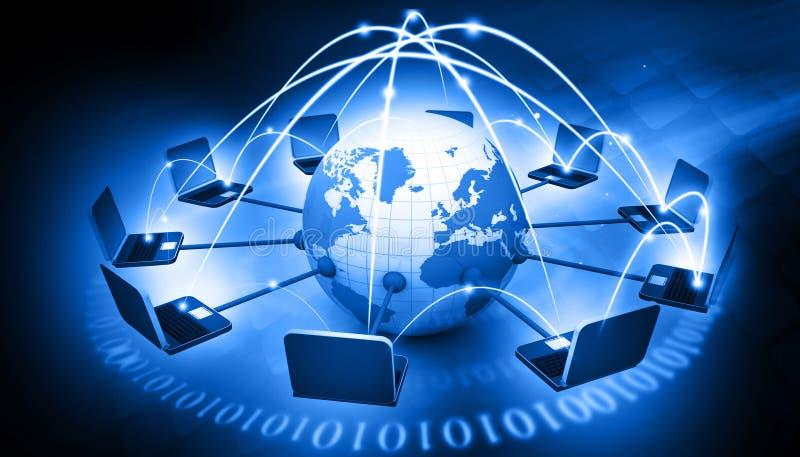 Global Computer network. Digital illustration of Global Computer network royalty free illustration