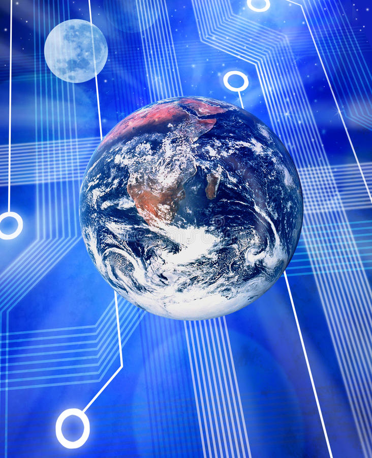 Global Computer Technology vector illustration