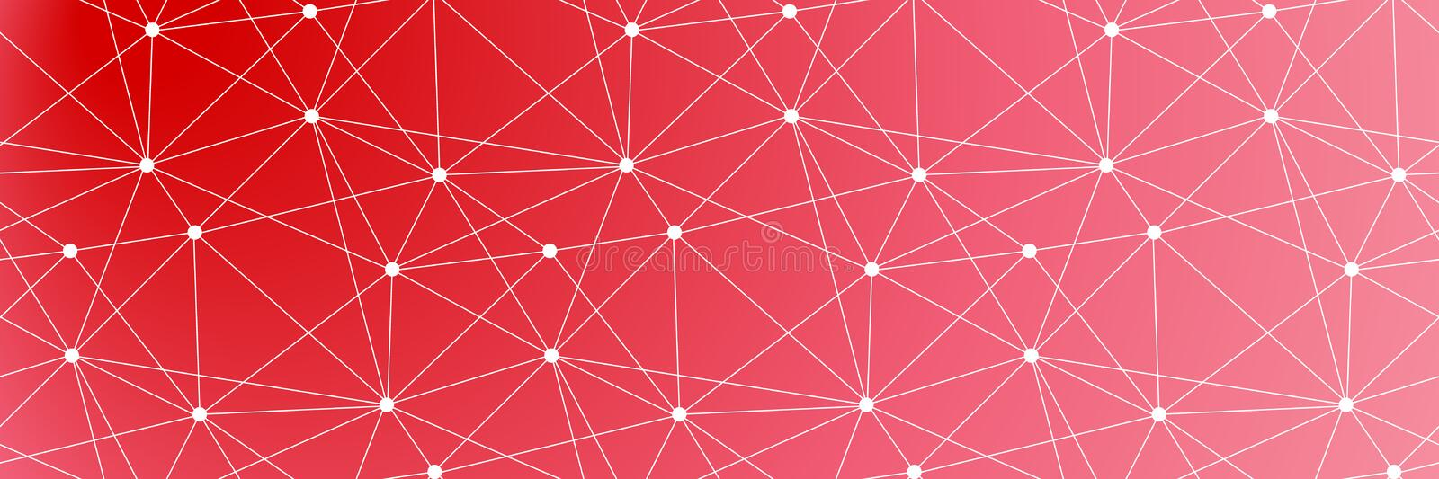 Global connected lines and dots seamless background. Molecular structure. stock illustration
