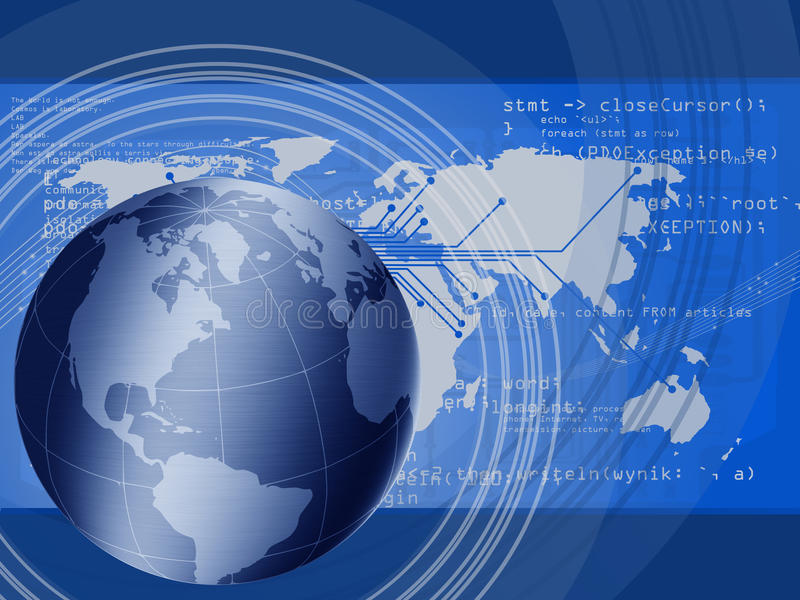 Global connecting stock illustration