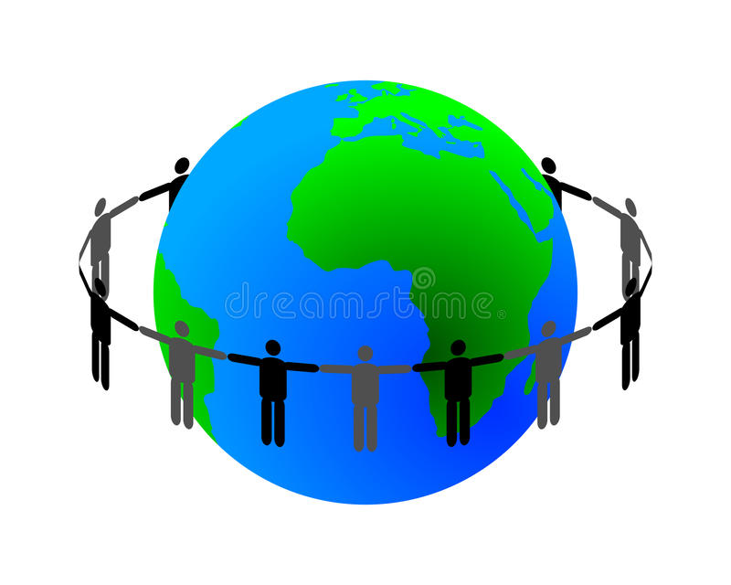 Global connection royalty free illustration