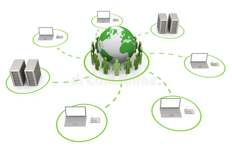 Download Global connection stock illustration. Image of monitor - 21299251