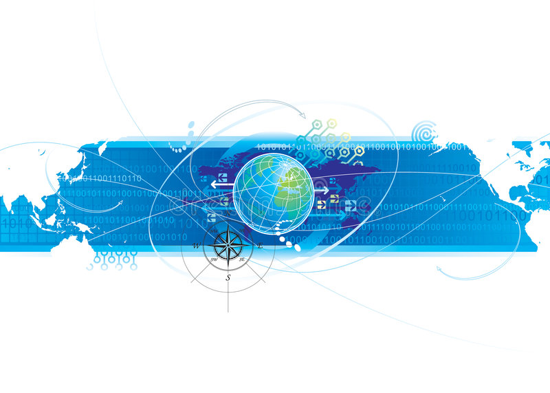 Global Connection. Global communications design, vector illustration layered