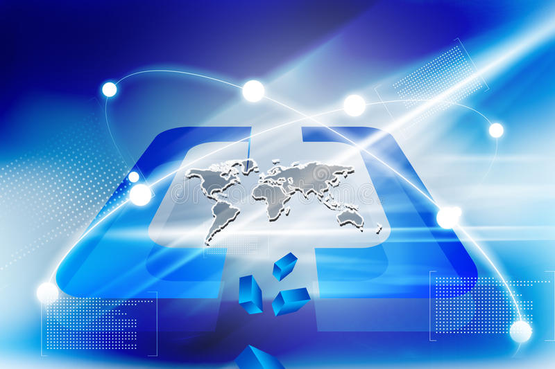 Download Global Connections. Digital Earth Stock Illustration - Image: 25842593