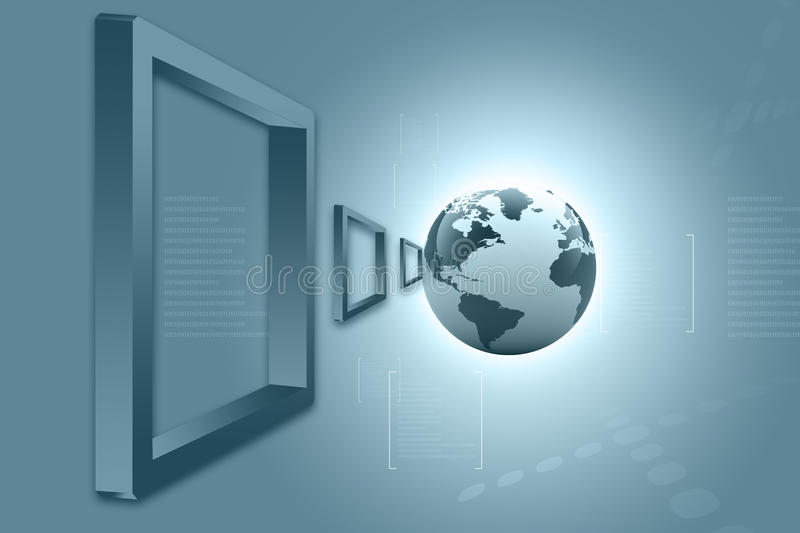 Download Global Connections. Digital Earth Stock Illustration - Image: 25842614