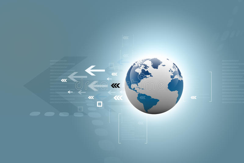Download Global Connections. Digital Earth Stock Illustration - Image: 25842623