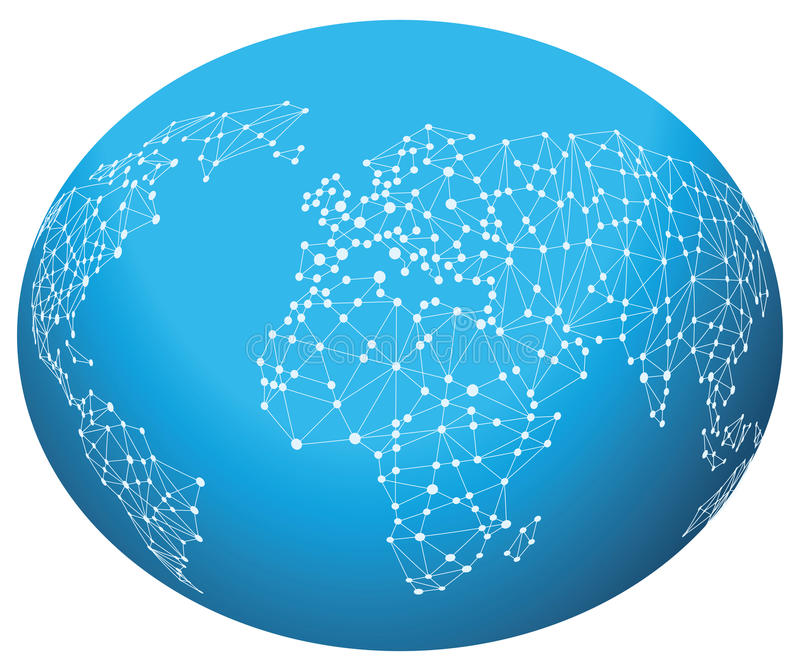 Global connections stock illustration