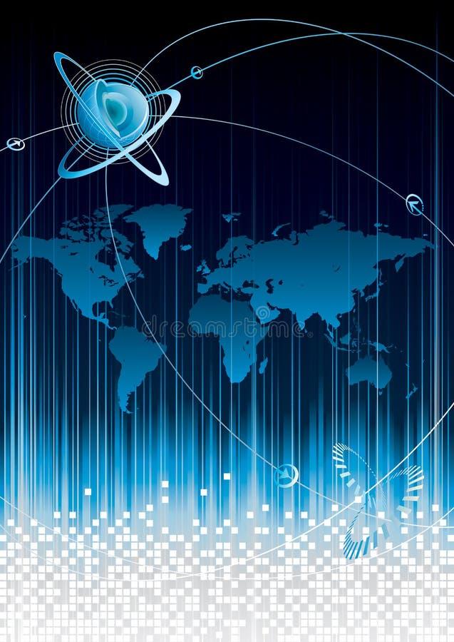 global connectivity royaltyfri illustrationer