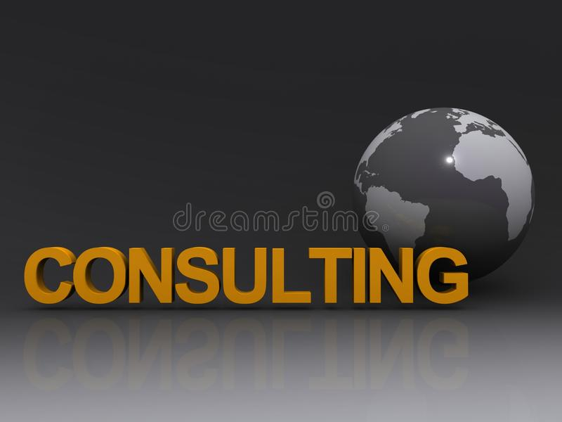 Global consulting royalty free illustration