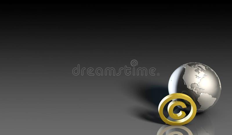 Global Copyright. Concept in 3d Presentation Art stock illustration