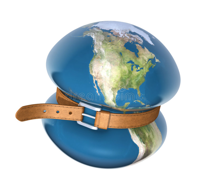 Global crisis royalty free illustration