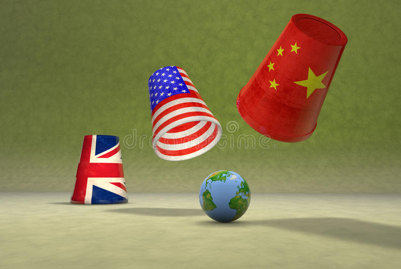 Global cups game stock illustration
